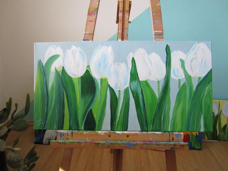 galerie christina quotweisse tulpenquot acryl gem228lde auf